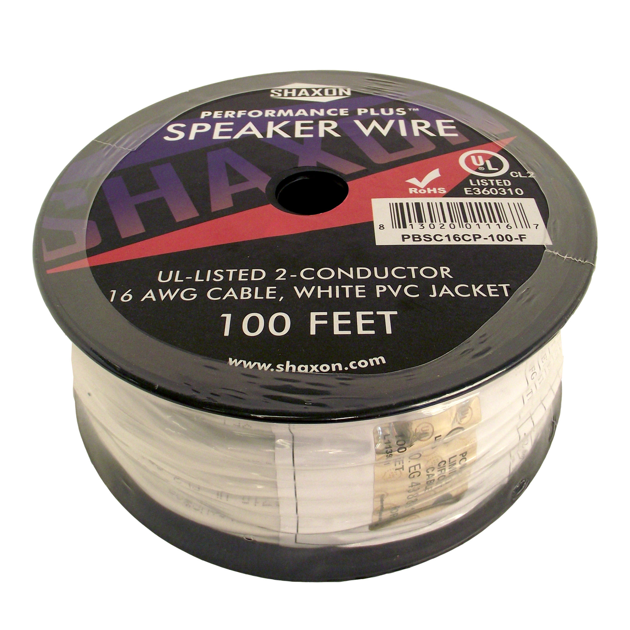 Speaker cable 16awg 100ft spool > Shaxon Consumer Electronics
